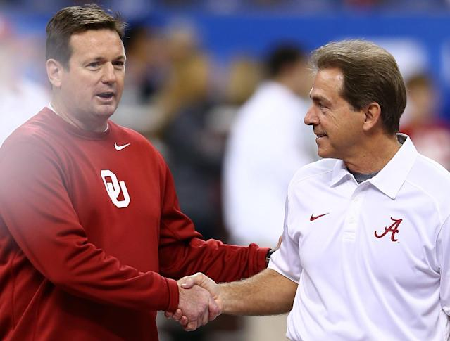 With Bob Stoops' retirement, Nick Saban isn't thinking about hanging it up anytime soon. (Getty)