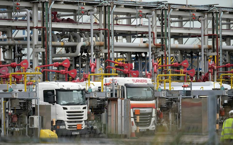Petrol tankers fill up with petrol and diesel at the Essar Oil Refinery at Stanlow - Christopher Furlong/Getty Images Europe