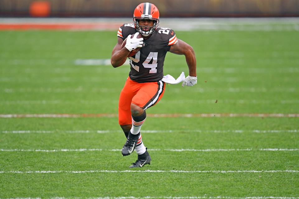 Running back Nick Chubb of the Cleveland Browns