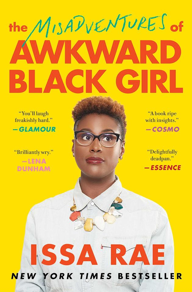 """<p>In February of 2011, the first episode of Issa Rae's comedy web series <strong>Awkward Black Girl</strong> hit YouTube. The show, which was produced by Pharrell Williams, ended in 2013, but her videos were viewed over 20 million times and attracted a base audience of 200,000 subscribers. Since then, Issa Rae has found success in her Golden Globe-nominated HBO series, <strong>Insecure</strong>. The comedy, which follows two friends navigating careers and relationships, explores social and racial issues, similar to Rae's web series. Her 2016 autobiography, <a href=""""https://www.popsugar.com/buy?url=https%3A%2F%2Fwww.amazon.com%2FMisadventures-Awkward-Black-Girl%2Fdp%2F1476749078&p_name=%3Cstrong%3EThe%20Misadventures%20of%20Awkward%20Black%20Girl%3C%2Fstrong%3E&retailer=amazon.com&evar1=pop%3Aus&evar9=43133088&evar98=https%3A%2F%2Fwww.popsugar.com%2Fcelebrity%2Fphoto-gallery%2F43133088%2Fimage%2F43134186%2FMisadventures-Awkward-Black-Girl-Issa-Rae&list1=books%2Crace%20and%20culture&prop13=api&pdata=1"""" rel=""""nofollow"""" data-shoppable-link=""""1"""" target=""""_blank"""" class=""""ga-track"""" data-ga-category=""""Related"""" data-ga-label=""""https://www.amazon.com/Misadventures-Awkward-Black-Girl/dp/1476749078"""" data-ga-action=""""In-Line Links""""><strong>The Misadventures of Awkward Black Girl</strong></a>, details her inspiration for both of these projects as well as humorously examines her life as a modern-day introvert, race relations in America, and owning your identity.</p>"""