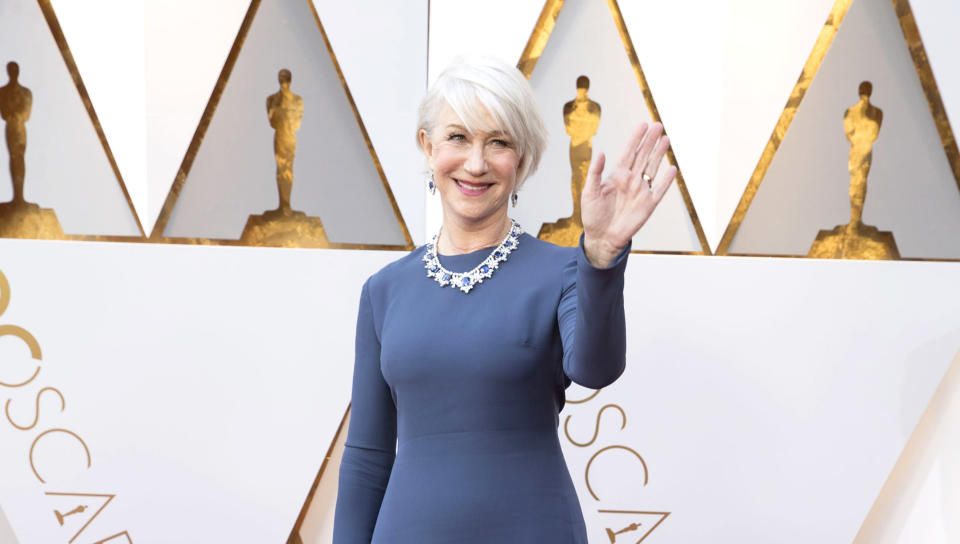 Helen Mirren attends the 90th Annual Academy Awards. (Photo: Rick Rowell/Getty Images)