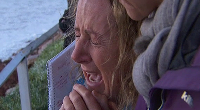 Zaza Silk was brought to tears when she saw the damage to her Collaroy property. Photo: 7 News