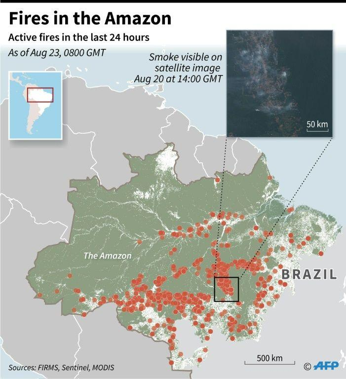 Fires are raging across the Amazon rainforest. (Source: AFP)