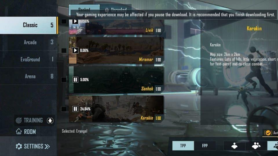 """<div class=""""paragraphs""""><p>You will have the option to choose between Classic, Arcade, EveGround and Arena. </p></div>"""
