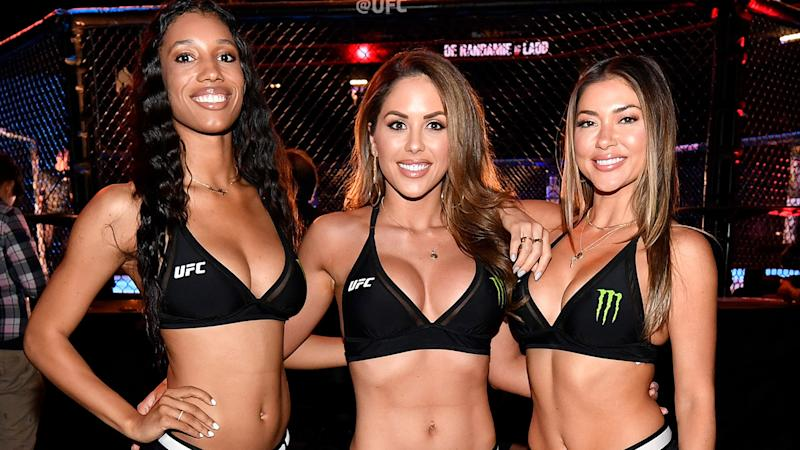 Brooklyn Wren, Brittney Palmer and Arianny Celeste, pictured here at a UFC event in 2019.