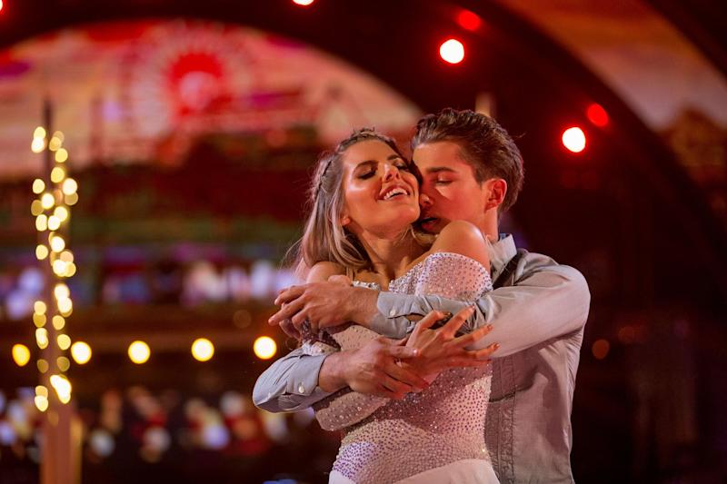 Heating up: Mollie King and AJ Pritchard have been 'caught kissing': BBC/Guy Levy