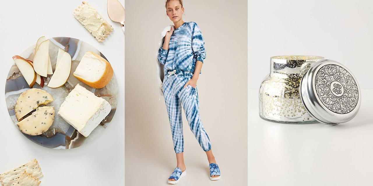 """<p>It's been a<em> week</em>, but<em></em> <a href=""""https://www.anthropologie.com/?ref=logo"""" target=""""_blank"""">Anthropologie</a> is here to help make your weekend a little brighter. Now through Sunday, the retailer is offering 25 percent off sitewide. Yes, that means huge discounts on clothing, <a href=""""https://www.cosmopolitan.com/style-beauty/fashion/g31755685/summer-2020-shoe-trends/"""" target=""""_blank"""">shoes</a>, bags, <a href=""""https://www.cosmopolitan.com/style-beauty/beauty/g28668988/best-drugstore-skincare/"""" target=""""_blank"""">skincare</a>, <a href=""""https://www.cosmopolitan.com/lifestyle/g31781788/best-scented-candles-reviews/"""" target=""""_blank"""">candles</a>....must I go on?  Whether you want to stock up on summer essentials or tap into your home's cozy vibes, <a href=""""https://www.anthropologie.com/?ref=logo"""" target=""""_blank"""">Anthropologie</a> has something for everyone. This sale only lasts this weekend, so we're sharing some of our favorite deals, below.</p>"""