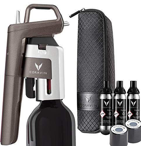 "<p><strong>Coravin</strong></p><p>amazon.com</p><p><strong>$199.95</strong></p><p><a href=""https://www.amazon.com/dp/B08DP5HP4D?tag=syn-yahoo-20&ascsubtag=%5Bartid%7C2089.g.34618159%5Bsrc%7Cyahoo-us"" rel=""nofollow noopener"" target=""_blank"" data-ylk=""slk:Shop Now"" class=""link rapid-noclick-resp"">Shop Now</a></p><p>Serious wine-lovers won't want to pass up the opportunity to score Coravin's lust-worthy luxe preservation system for 50% off. It makes it possible to pour wine without ever removing the cork, so the contents of your bottle can stay fresh — even years after your first glass.</p>"