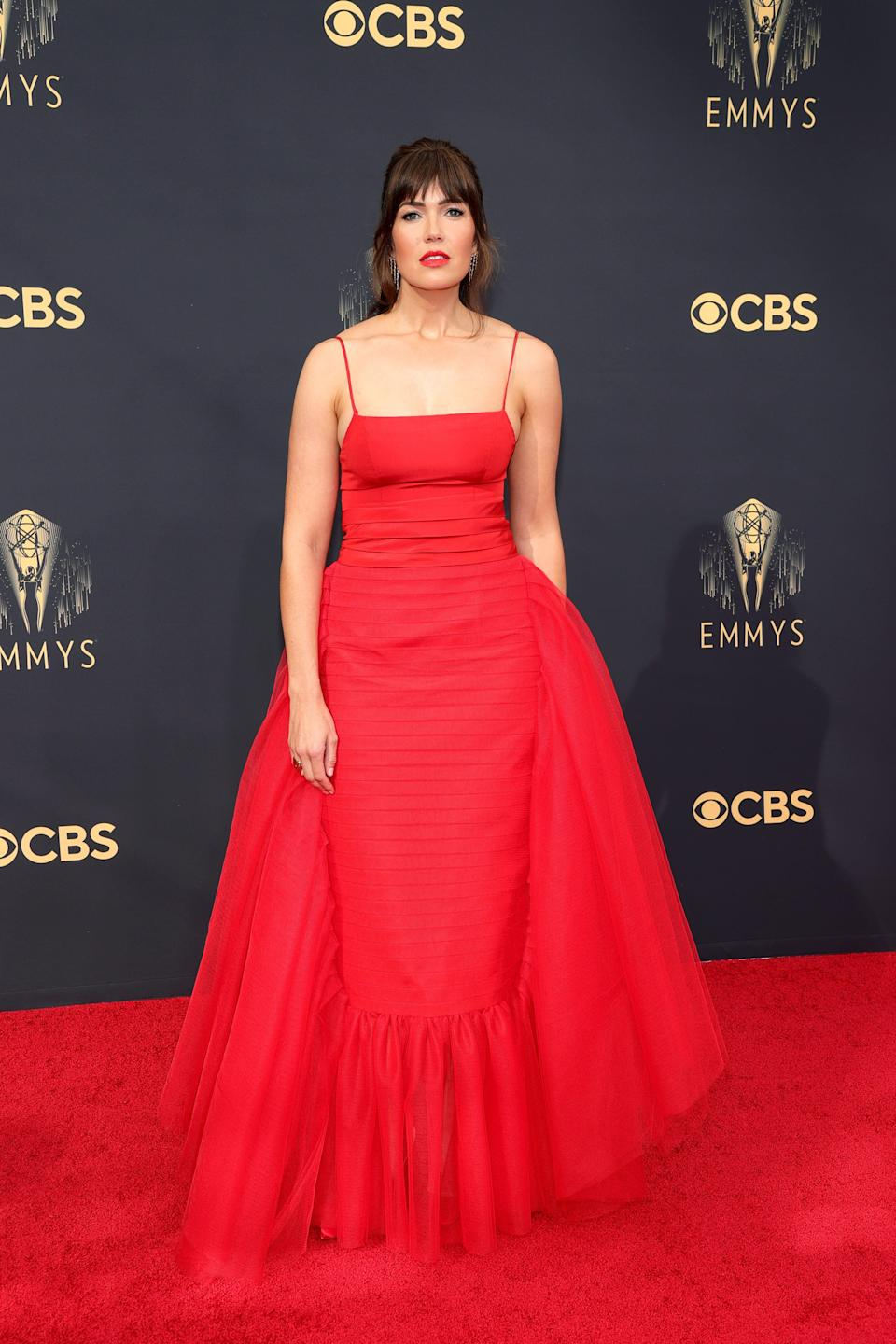 Mandy Moore attends the 2021 Emmys.