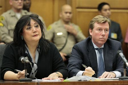 Attorneys for Katherine Jackson, Deborah Chang and Kevin Boyle listen as jurors are polled following the verdict in Jackson's civil lawsuit against AEG Live at the Los Angeles Superior Court in Los Angeles