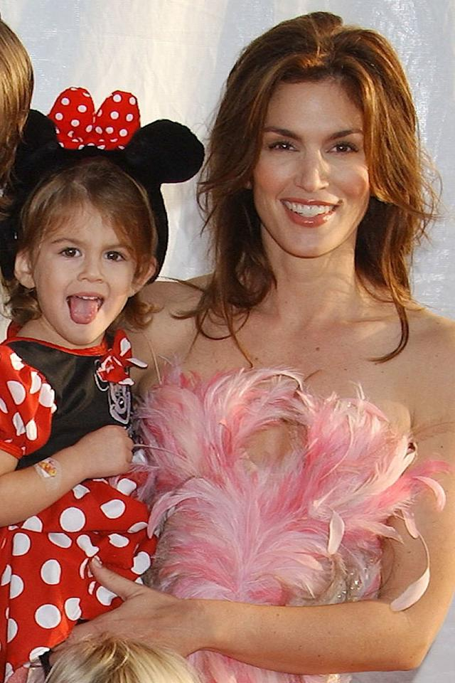 Mom's mini-me! Kaia Gerber has always been a spitting image of her supermodel mama. Here they are in 2003, when Kaia was just a toddler.