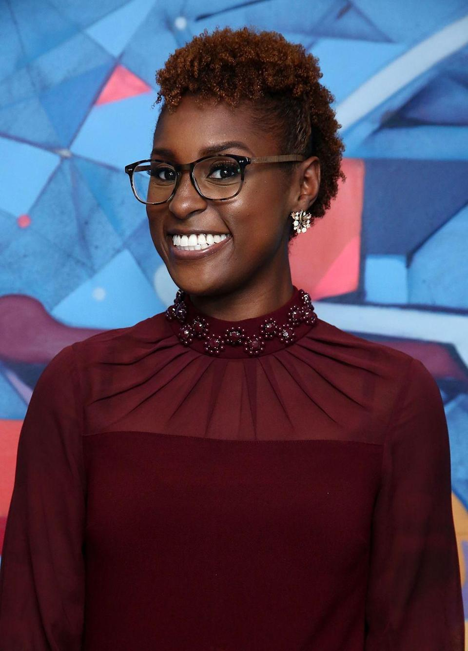 <p>Have some fun with your TWA by pinning or braiding the sides into a cute fro-hawk like <strong>Issa Rae</strong>'s.</p>