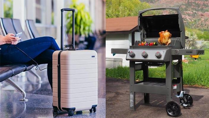 Save on luggage, grills, and more in March.
