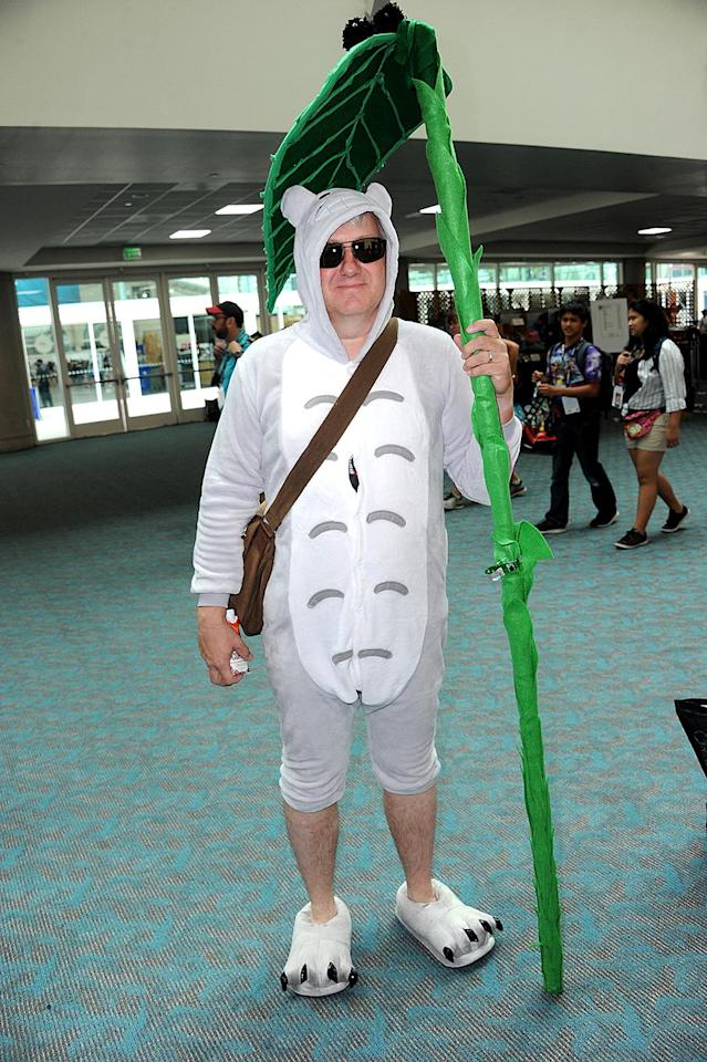 <p>Cosplayer dressed as Totoro at Comic-Con International on July 20 in San Diego. (Photo: Albert L. Ortega/Getty Images) </p>