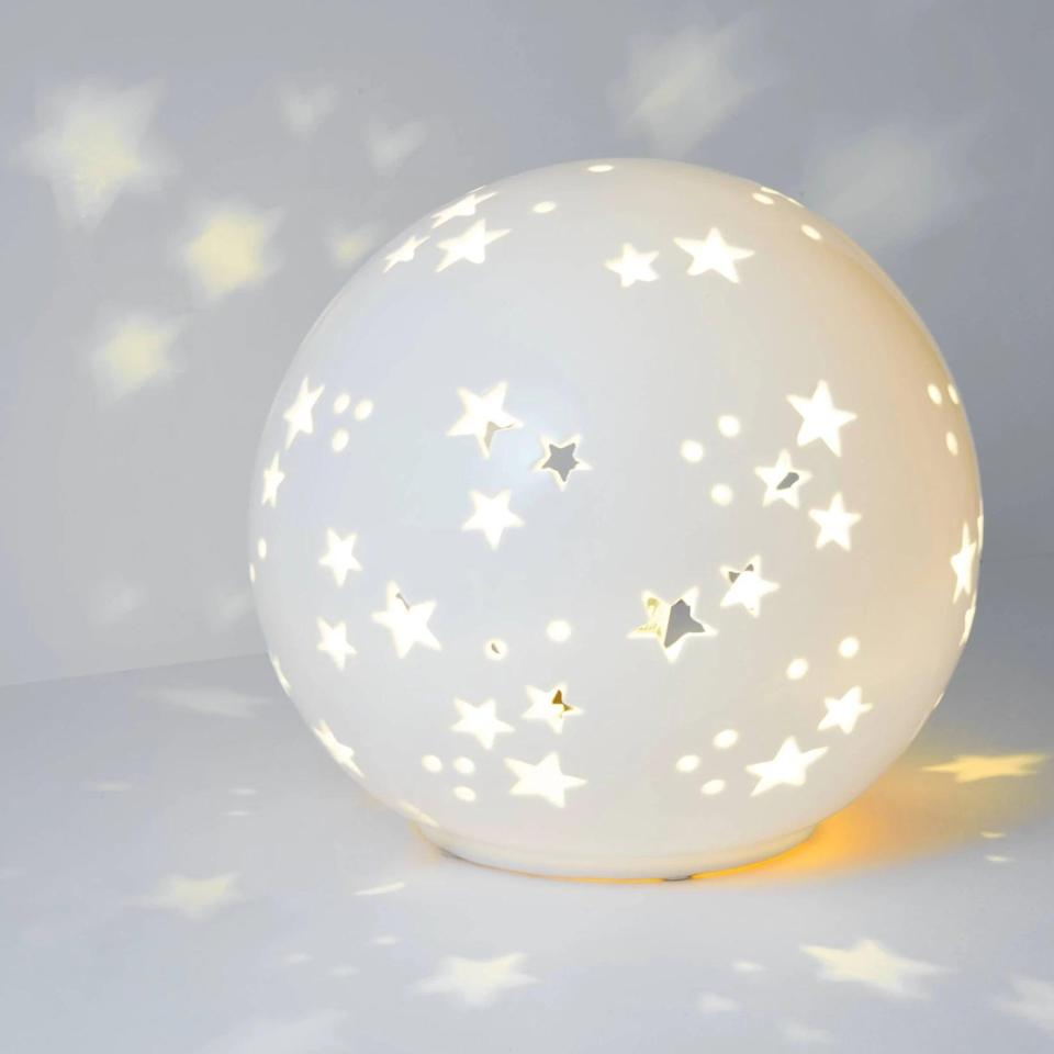 <p>The <span>Pillowfort Starry Globe Nightlight</span> ($20) will transform their room into a calming celestial oasis.</p>