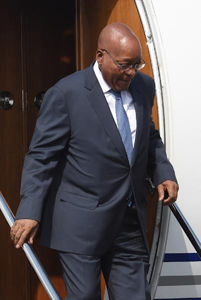 South African President Jacob Zuma, pictured on October 15, 2016, has been under pressure over persistent allegations the powerful Gupta family held undue political sway over him (AFP Photo/Money Sharma)