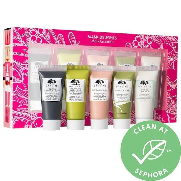 <p>This holiday gift idea has a little something for you, too. Before your next night in binging Christmas movies with your BFFs, pick up this <span>Origins Mask Delights Mask Essentials Set</span> ($20). There are five different masks to choose from so you can each pick what you want to work on that day, from nourishing faces to retexturizing skin that could use a little TLC.</p>