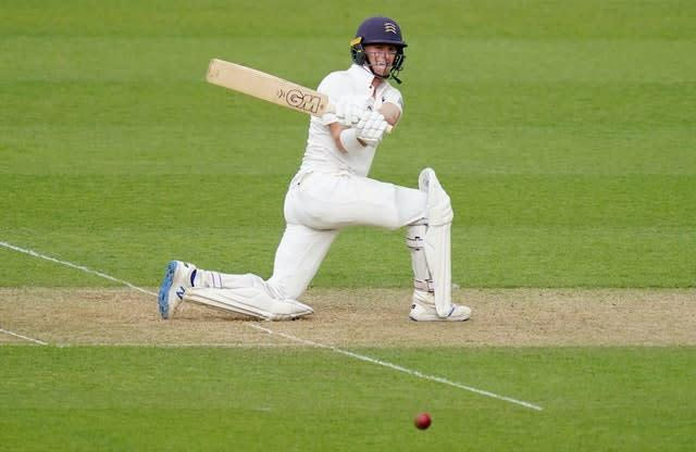 Middlesex's Nick Gubbins rediscovered his form with a hundred on day one of the Bob Willis Trophy fixture at Surrey (John Walton/PA)