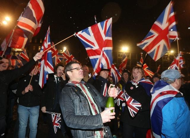Celebrations were held by some as the UK officially left the EU on January 31