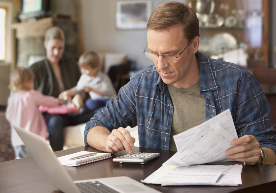 Experts say many men feel the pressure of being the breadwinner. (Getty Images)