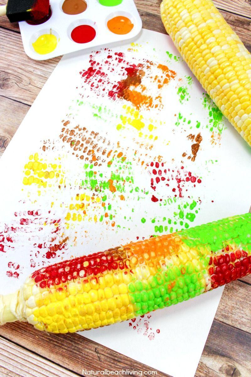 "<p>While you prep dinner, let your kids have fun with leftover corn. Once you've removed the husk, they can paint the ears different colors and roll them over paper for some refrigerator-worthy fall artwork. </p><p><strong>Get the tutorial at <a href=""https://www.naturalbeachliving.com/corn-cob-craft-painting/"" rel=""nofollow noopener"" target=""_blank"" data-ylk=""slk:Natural Beach Living"" class=""link rapid-noclick-resp"">Natural Beach Living</a>.</strong></p><p><strong><a class=""link rapid-noclick-resp"" href=""https://www.amazon.com/ROYAL-BRUSH-RFOMW-4P-Brush-4-Pack/dp/B0052UN1JA/?tag=syn-yahoo-20&ascsubtag=%5Bartid%7C10050.g.2633%5Bsrc%7Cyahoo-us"" rel=""nofollow noopener"" target=""_blank"" data-ylk=""slk:SHOP FOAM PAINT BRUSHES"">SHOP FOAM PAINT BRUSHES</a><br></strong></p>"