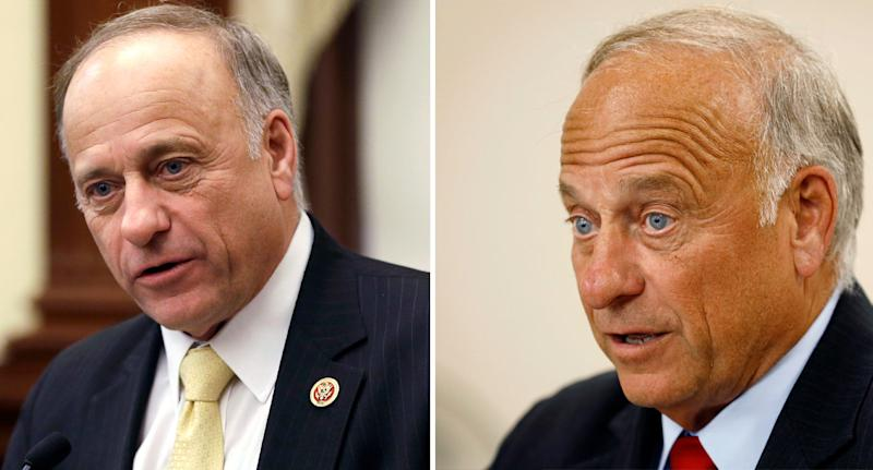 Steve King shown after making shock claims that humanity wouldn't exist without rape and incest.