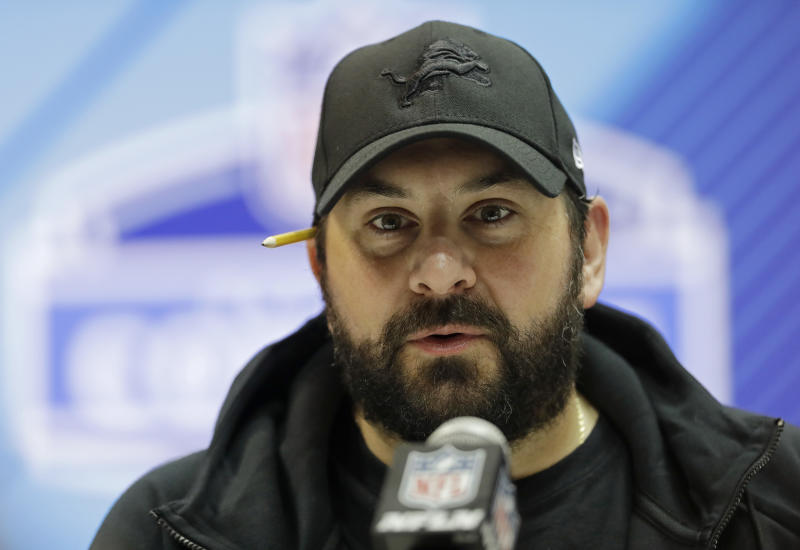 Lions coach Matt Patricia said in a statement: