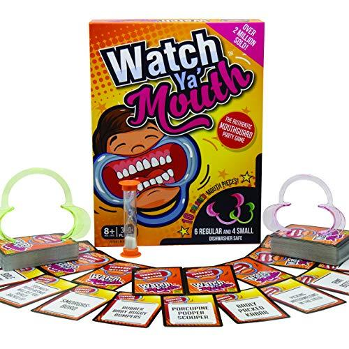 Watch Ya' Mouth Family Edition - The Authentic, Hilarious, Mouthguard Party Game (Amazon / Amazon)