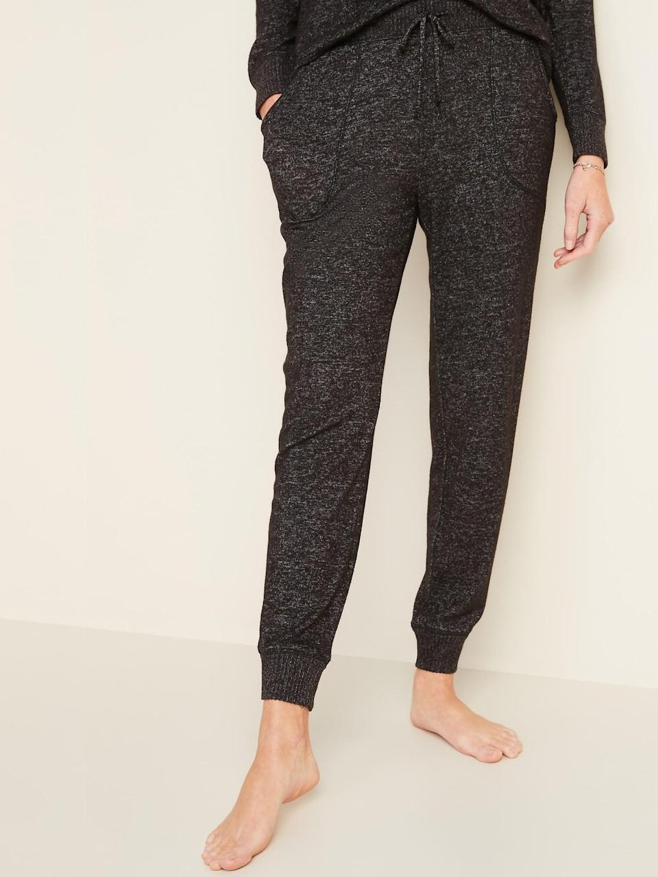 <p>These <span>Mid-Rise Plush-Knit Jogger Pajamas </span>($25, originally $30) are great for sleeping.</p>