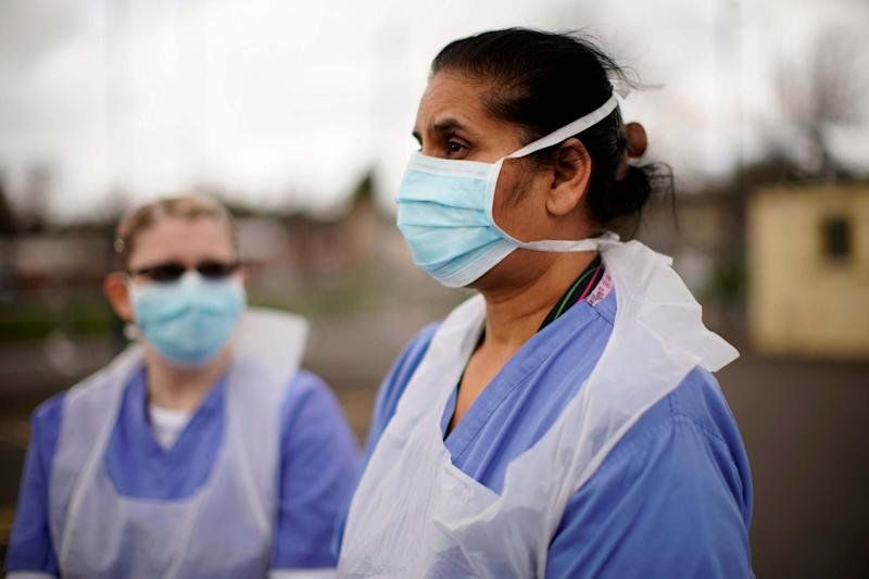 NHS staff wearing masks: Getty Images