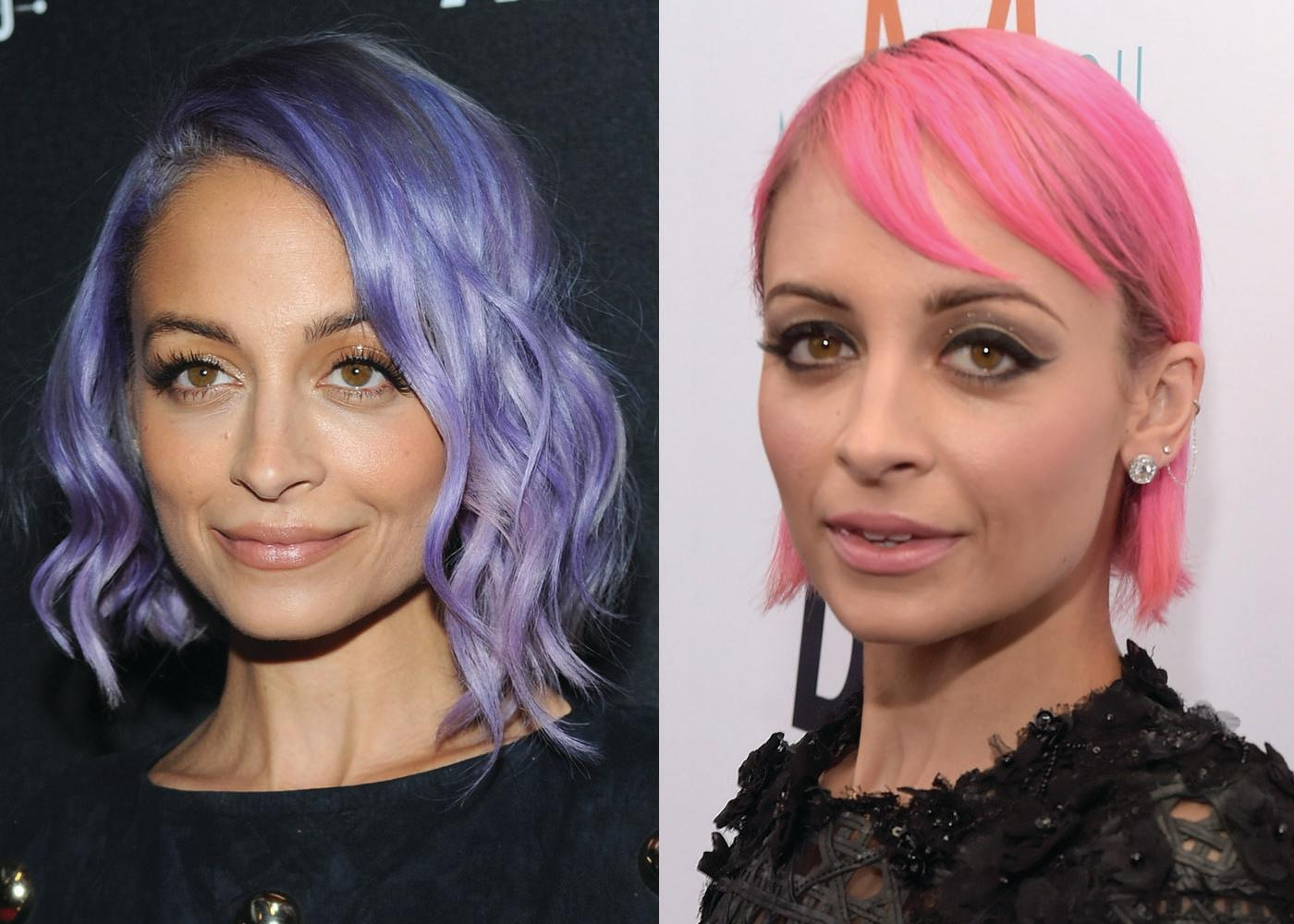 Nicole Richie is no stranger to rainbow-colored hair, as she's worn purple and pink hues. (Photo: Getty Images)
