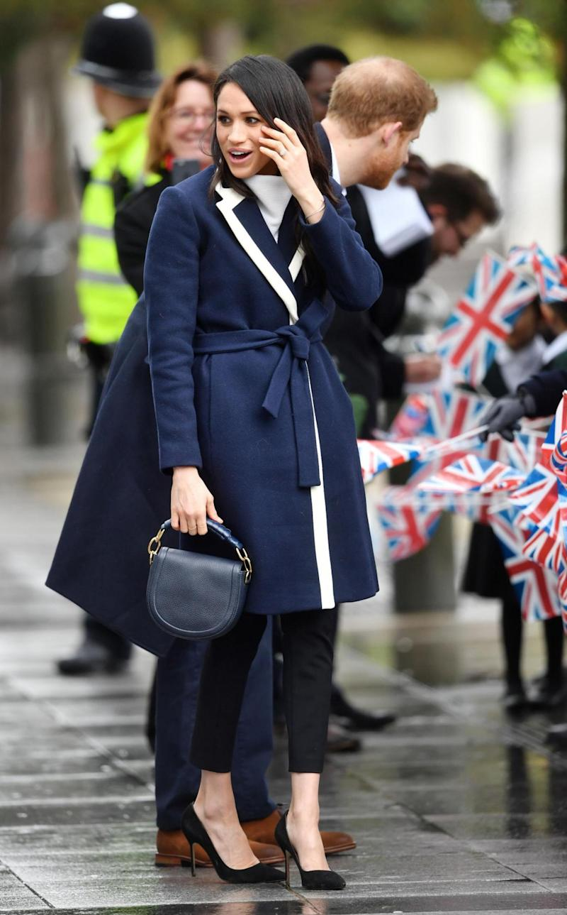 Meghan Markle during a walkabout in Birmingham (PA)