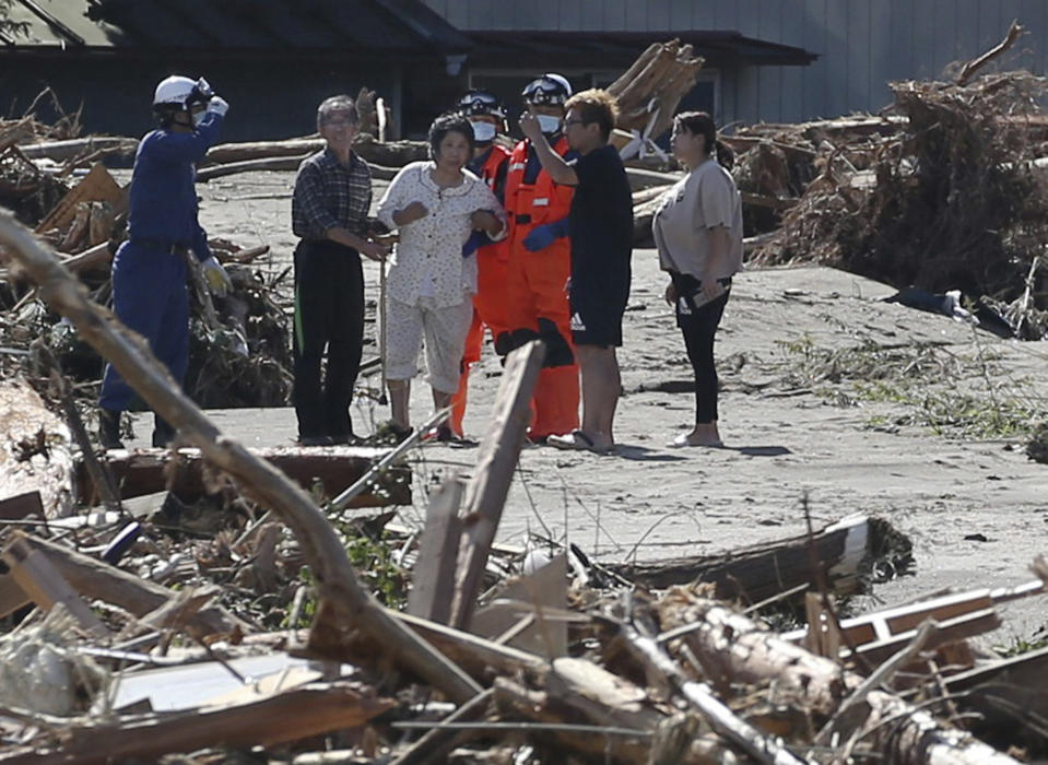 According to Yomiuri Shimbun, more than 30  were killed and 17 are missing in 10 prefectures as of 13th 9p.m. Source: The Yomiuri Shimbun via AP Images.