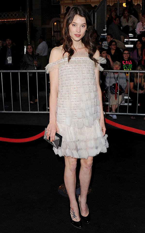 """<a href=""""http://movies.yahoo.com/movie/contributor/1810169553"""">Astrid Berges-Frisbey</a> attends the Disneyland premiere of <a href=""""http://movies.yahoo.com/movie/1809791042/info"""">Pirates of the Caribbean: On Stranger Tides</a> on May 7, 2011."""