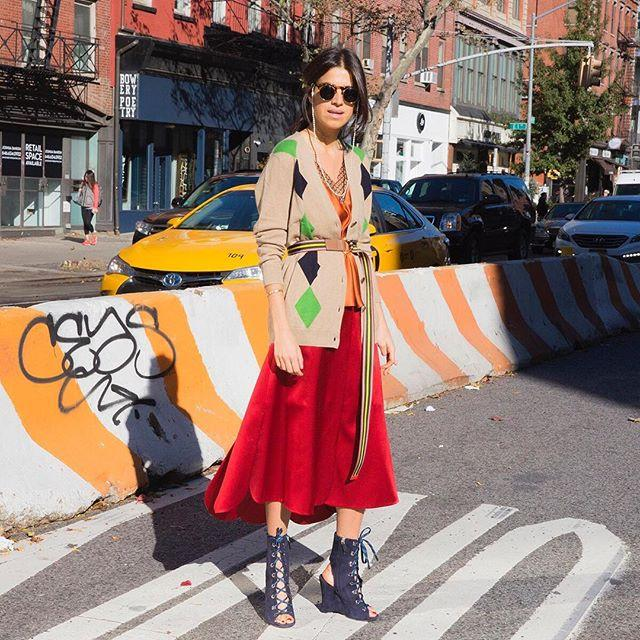 <p><strong>Styling Takeaway: </strong>Belt a long cardigan over a midi skirt for an unexpected twist. Bonus man-repelling points if you add more color. </p>