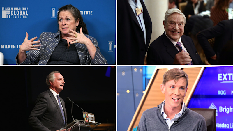 Clockwise: Abigail Disney; George Soros; Paul Polman; and Chris Hughes. All have been among millionaires and billionaires that have backed heftier taxes on the wealthy. (Source: Getty, CNBC)