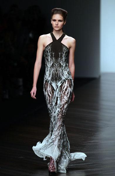<b>LFW AW13: Maria Grachvogel </b><br><br>The beauty look was strong and fierce, with the models sporting brown smoky eyes.<br><br>© PA