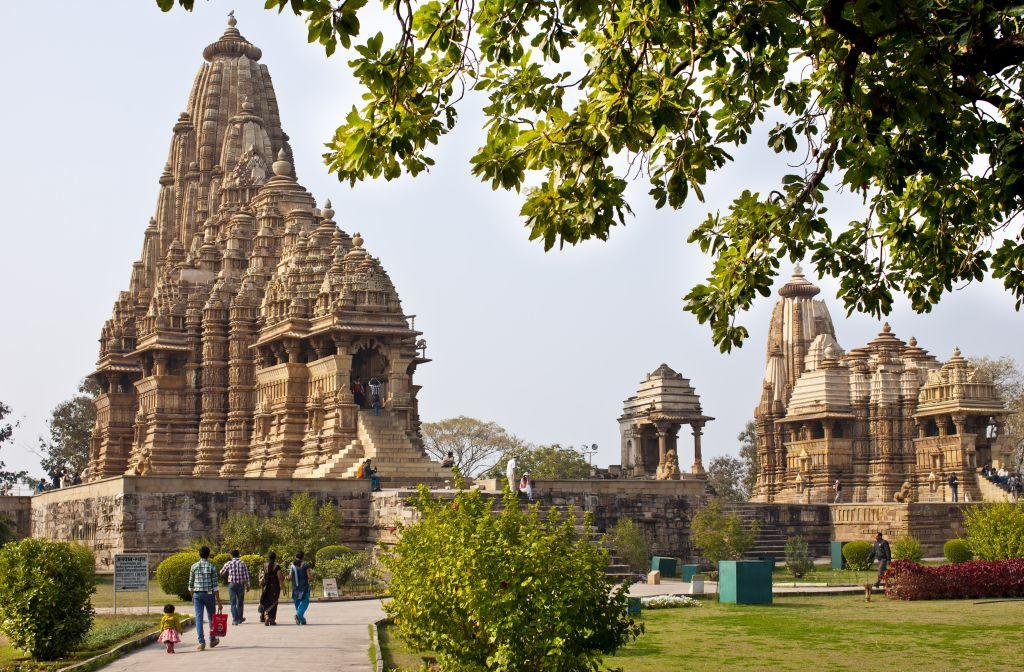 The Temples of Khajuraho in Madhya Pradesh, India, are famous for their erotic figures depicted in various Kamasutra positions. The so-called Temples of love were built from 950 to 1050 AD by the rulers of the Chandela dynasty and have since 1986 been declared a Unesco World Heritage Site. The fine stone carvings are great masterpieces of Indian art and architecture.