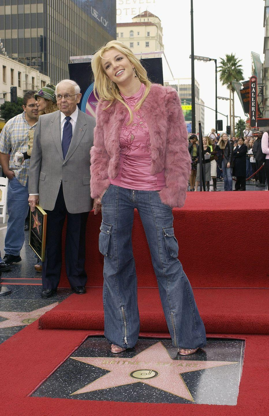 <p>Britney Spears receives her star on the Hollywood Walk of Fame.</p>