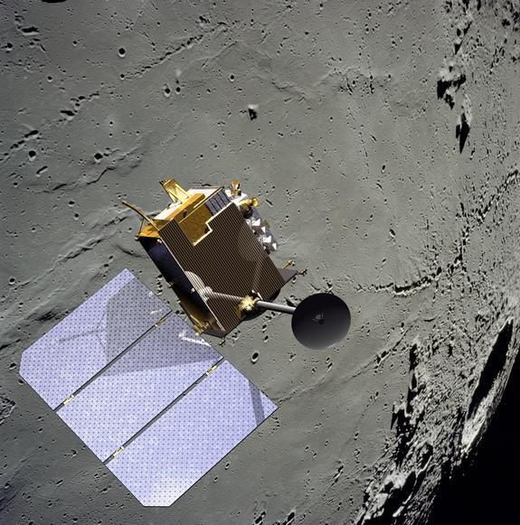 This image shows an artist's illustration of NASA's Lunar Reconnaissance Orbiter at the moon. LRO and the Opportunity rover mission on Mars are currently zeroed in the space agency's 2016 budget request.