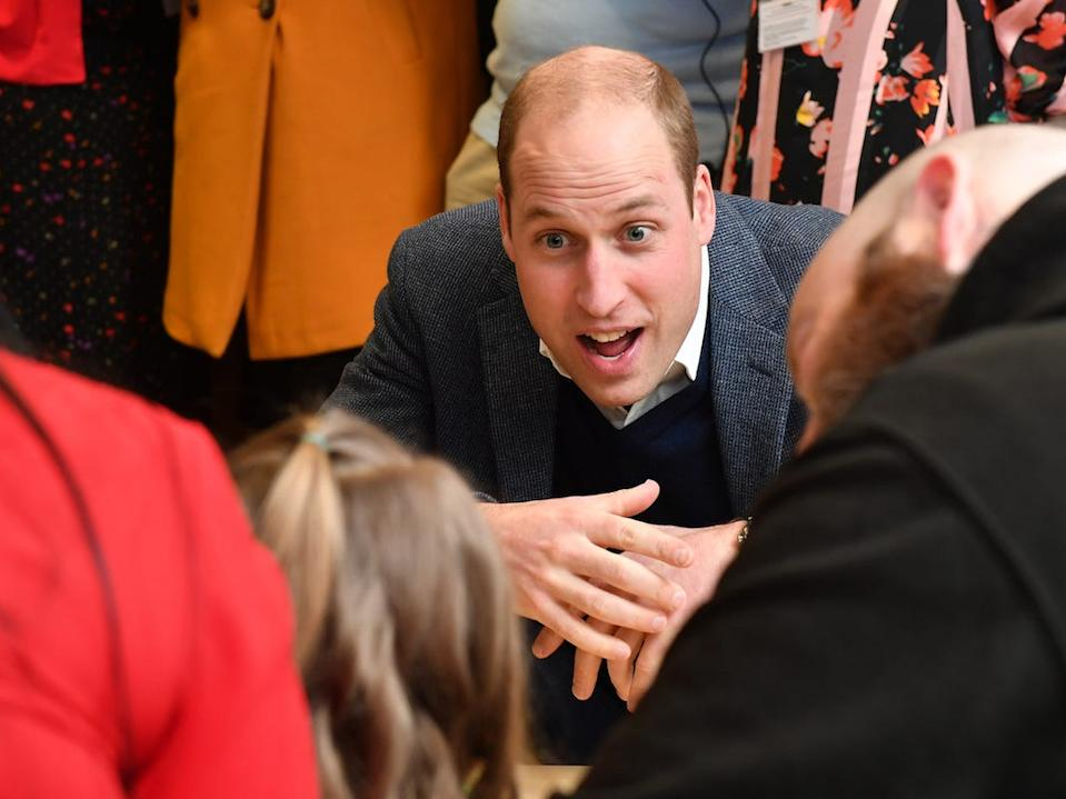 Prince William with kids