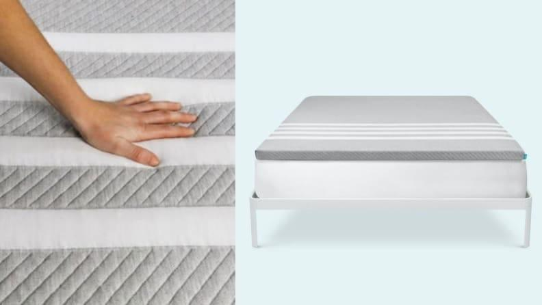 The Leesa mattress topper breathes new life into any old mattress.
