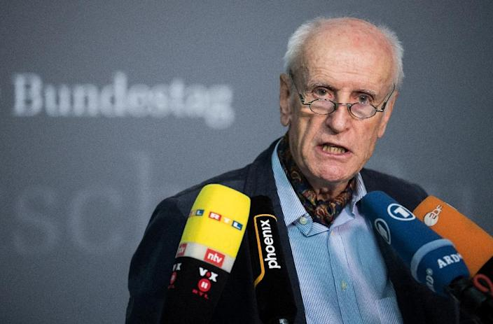 German candidate for parliamentary vice-president Albrecht Glaser as his Alternative for Germany (AfD) far-right party enters the Bundestag is set to face strong opposition from main stream parties. (AFP Photo/Bernd von Jutrczenka)