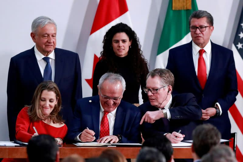 FILE PHOTO: U.S.-Mexico-Canada Agreement (USMCA) signing in Mexico City