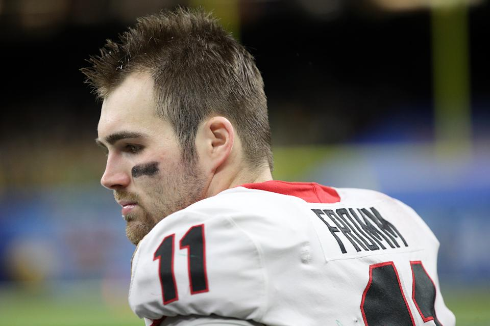 Jake Fromm's plunge to the 2020 NFL draft's fifth round could give Kirby Smart a reputation at Georgia for poor quarterback development. (Photo by Chris Graythen/Getty Images)