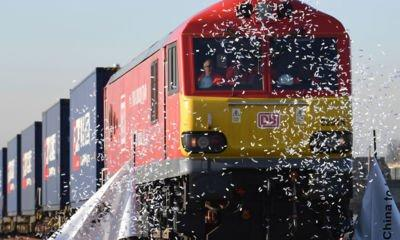 Silk Road train sets off on first UK to China rail freight journey