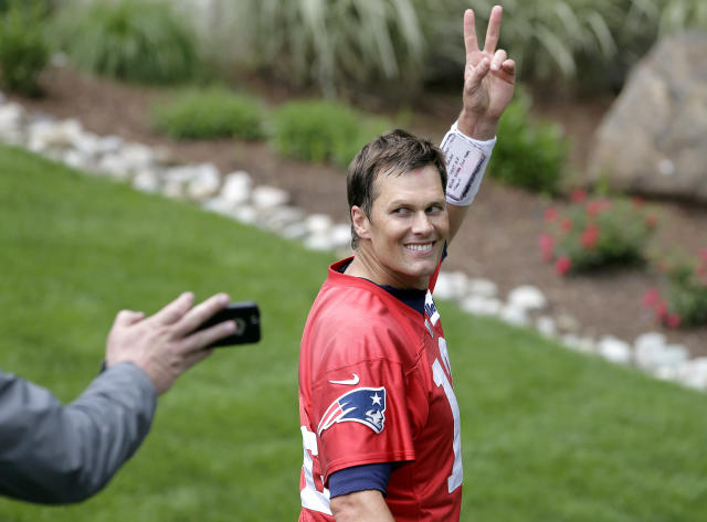 New England Patriots quarterback Tom Brady talked with Oprah Winfrey about when he might possibly retire. (AP)