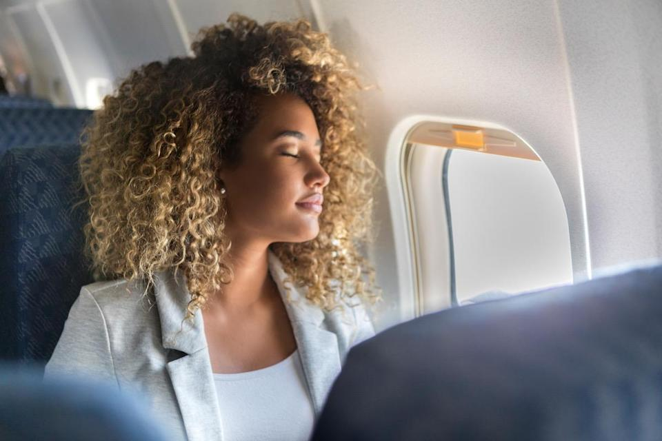 """If you're someone who prefers the window seat, it's probably because you're able to lean on the wall and get some rest. But those walls can get grimy for exactly that reason, says <strong>Joanne Archer</strong>, a cleaning guru from <a href=""""https://experthometips.com"""" rel=""""nofollow noopener"""" target=""""_blank"""" data-ylk=""""slk:Expert Home Tips"""" class=""""link rapid-noclick-resp"""">Expert Home Tips</a>. """"How many people lean to the sidewall for a little snooze?"""" she cautions. """"Far too many! Mouth-breathers and snorers alike are bound to be covering these areas in germs."""""""