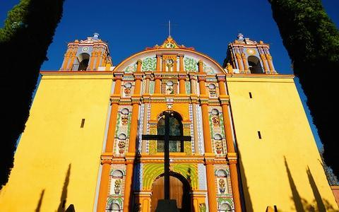 A painted church in Santa Ana Zegache in Oaxaca - Credit: This content is subject to copyright./Dermot Conlan