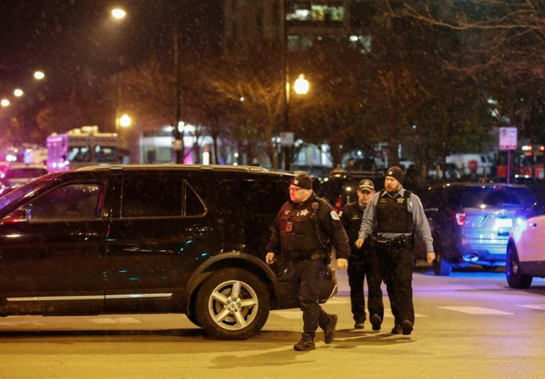 A shooter killed the first victim in the parking lot of Mercy Hospital, then fired at police when they arrived